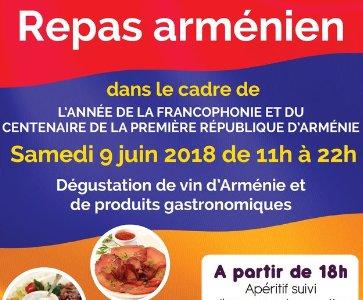 Repas arménien à Issy les Moulineaux