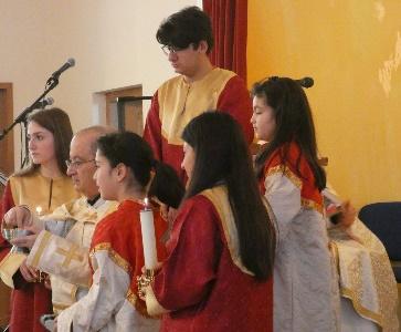 Sainte Messe célébrée par Mgr Elie Yeghiayan