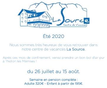 """Séjour pour famille à """"La Souce"""" haute Savoie"""