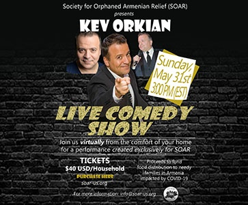 SOAR Virtual Comedy Show Fundraiser LIVE with Kev Orkian!