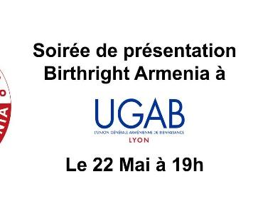 Soirée de présentation de Birthright Armenia