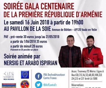 Soirée Gala Centenaire De La Première République D'Arménie