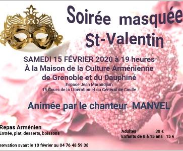 Soirée masquée Saint Valentin