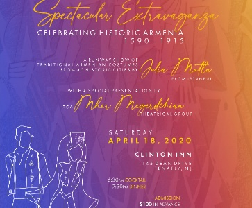 'Spectacular Extravaganza Celebrating Historic Armenia 1590-1915.' A Runway Show of Traditional Armenian Costumes of 40 Historic Cities by Julia Mutlu from Istanbul.