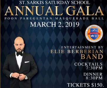 St. Sarkis Saturday School Annual Gala Poon Paregentan Masquerade Ball