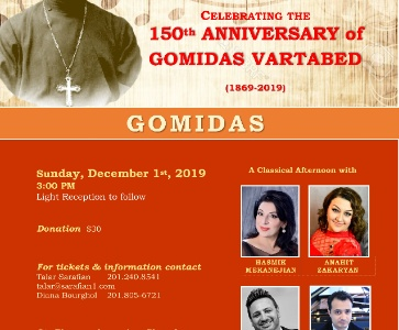 St. Thomas Armenian Church Celebrates Gomidas Vartabed's 150th Anniversary