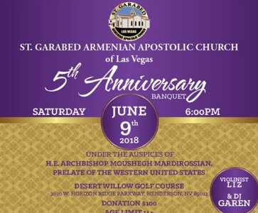 St. Garabed Church 5th Anniversary Celebration