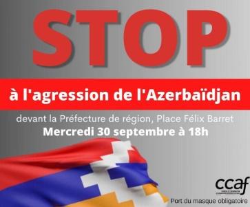Stop à l'agression de l'Azerbaïdjan