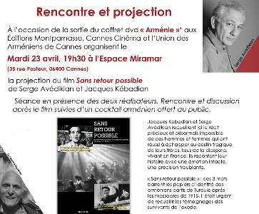 "PROJECTION ""SANS RETOUR POSSIBLE"""