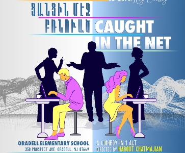 "TCA Mher Megerdchian Theatrical Group presents a new play, ""Caught in the Net"" by Ray Cooney."