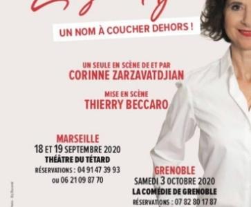 """Un nom à coucher dehors"", spectacle de Corine Zarzavatdjian"