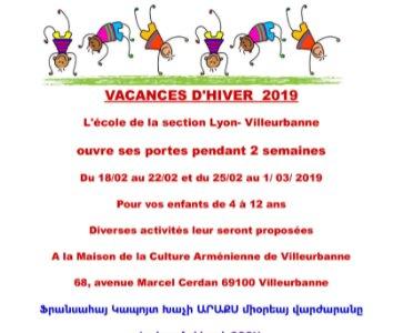VACANCES D'HIVER 2019