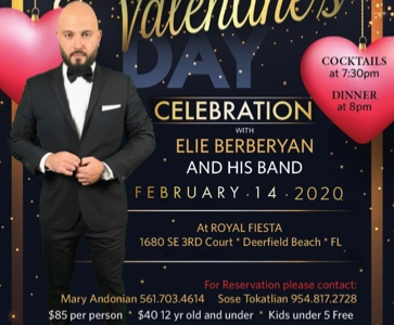 Valentines Dinner Gala with Elie Berberian