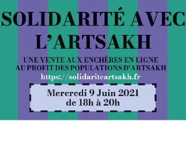 Vente aux enchères en ligne - Solidarité avec l'Artsakh