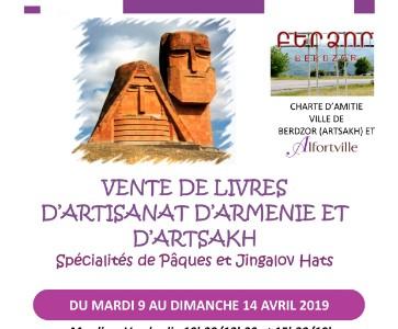 Vente de livres et artisanat d'Arménie et d'Artsakh, 9 au 14 avril, boutique éphémère