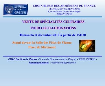 Vente de spécialités culinaires pour les illuminations