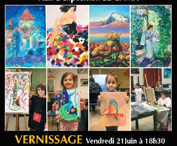 """Vernissage """"atelier de peinture de la MCAD"""""""