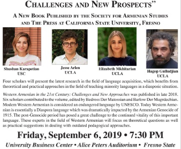 Western Armenian in the 21st Century: Challenges and New Approaches