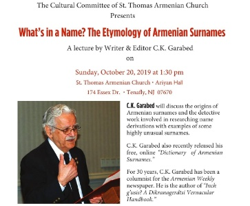 What's In A Name? The Etymology Of Armenian Surnames